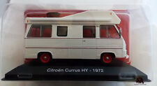 Miniature Véhicule IXO CAMPING CAR 1/43e CITROËN HY Currus 1972 Diecast Metal