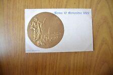 CARTOLINA ROMA 19 11 1902 con MEDAGLIA IN RILIEVO NON VIAGGIATA SUBALPINA DD