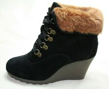 Buffalo girl Keil-Stiefelette schwarz