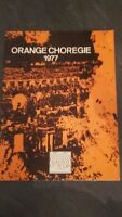 Folleto Clásico Naranja Choregie 1977 IN 4 Tbe