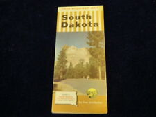 Vintage Official 1954 South Dakota State Highway Road Map   Very Nice!