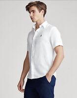 NEW Polo Ralph Lauren Short Sleeve Classic Fit Shirt Mens White Oxford XXL