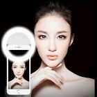 Selfie Portable LED Ring Fill Light Camera Photography for iPhone Mobile Phone