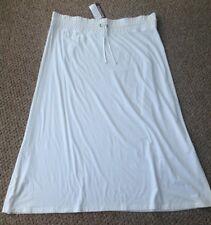 La Redoute Taillissime blanc long Jupe fluide en coton modal Taille Plus 26