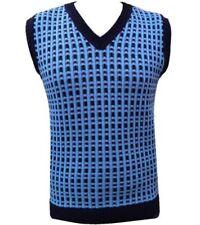 Blue Sleeveless Jumpers & Cardigans for Men