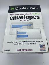 Quality Park 2-Window Tinted Redi Seal Check Envelope #8 5/8 3 5/8 x 8 5/8 White
