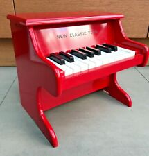 18 Key, Single Octave Wooden Toy Piano, by New Classic Toys. Ferrari Red. Age 3+