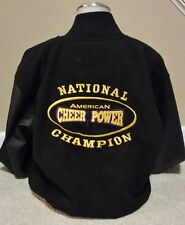 AMERICAN CHEER POWER NATIONAL CHAMPION VARSITY JACKET M MEDIUM