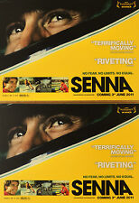 2 X SENNA FILM POSTCARDS - AYRTON SENNA FORMULA ONE F1