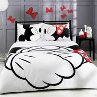 Disney Kids Bedding Set Mickey Minnie Shake Hands Duvet Cover Set Pillowcase