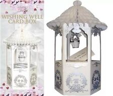 WISHING WELL Wedding Card Post Box White Dove Design Receiving Table Decorations