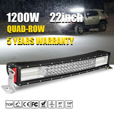 "PHILIPS 10D QUAD ROW 22INCH 1200W CURVED LED LIGHT BAR SPOT FLOOD SUV 4WD 20"" 23"