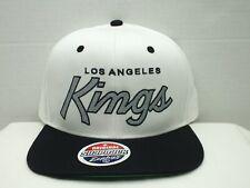 Los Angeles KINGS Script White/Black NHL Retro Vintage Snapback Cap Hat Zephyr