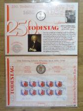 Numisblatt 3 / 2000 Johann Sebastian Bach DM 10 Silber Gedenkmünze Bestzustand
