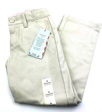 Size 5 School Uniform girls pants beige straight adjustable children kids pocket
