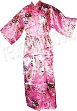 New Womens Pink Japan Geisha Girl Bathrobe Kimono Robe Housecoat Gift Idea