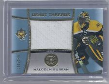 15-16 2015-16 ULTIMATE COLLECTION MALCOLM SUBBAN DEBUT THREADS JERSEY /149 BRUIN