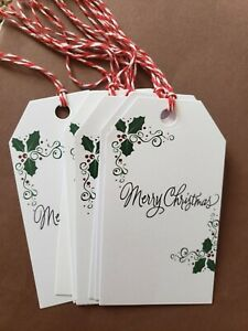Christmas Gift Tags with strings (10) gift tags cardstock