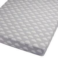 1x Blue FYLO Jersey Fitted Sheet Compatible with Kinderkraft Neste Bedside Crib 55x90cm 1x Lemon