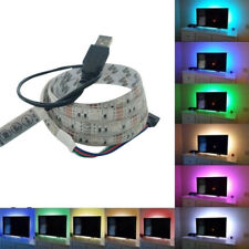 5050 Bright 60LED 1M USB LED Streifen Lichterketten TV-Back Licht Wasserdicht DE
