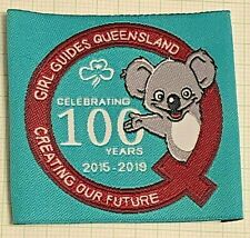 Girl Guides Queensland Badge: Celebrating 100 Years: Creating Our Future