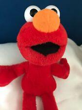 ELMO Sesame Street Elmo Plush 10 in Stuffed Animal 2002 Plastic Eyes Toy