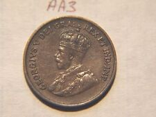 1933 Canada Canadian Small 1c (One) Cent Coin, Penny