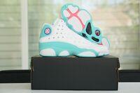 Nike Air Jordan 13 Retro (GS) Aurora Green White 439358-100 Grade School 4Y - 7Y