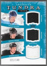 11/12 Artifacts Tundra Trios Jersey Malkin Crosby Staal /149 TT3-PITT Penguins