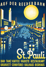 Art Ad St Pauli Hamburg German Travel  Poster Print