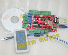 4 Axis USB CNC Breakout Board Interface Controller Card 36V/DC+Remote Control