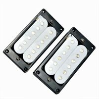 Humbucker Double Coil Set Bridge Neck Pickups for Electric Guitar Parts White