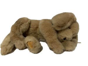 """Vintage GUND Plush Muttsy Dog Lab Golden Retriever Puppy Suede Paws 14"""" 1361"""