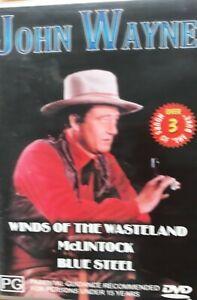 John Wayne : Winds of wasteland/McLintock / Blue Steel - DVD ALL REGIONS  #868