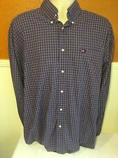 Tommy Hilfiger Long Sleeved Shirt Blue Large Casual Dress 100% Cotton
