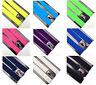 Mens Unisex Adjustable Elastic Clipon Suspender Trouser Braces Plain/Neon SU001