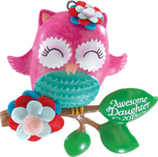 Carlton Heirloom Ornament 2015 Awesome Daughter - Beautiful Pink Owl - #Cxor014H