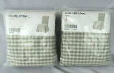 *2* Ikea Gray Check Cover for Henriksdal Chair Long Slipcover Sagmyra Gray NIP