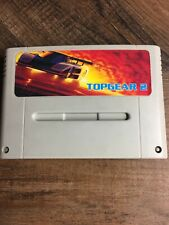 Top Gear 2 (Super Nintendo SNES) Super Famicom Racing Game TESTED/WORKS