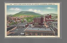 BUSINESS SECTION,MILL MOUNTAIN-ROANOKE VIRGINIA LINEN POSTCARD NEW NM