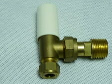 Pegler Terrier Radiator Valve 10mm Angled Brass Lockshield  ** Free Post **