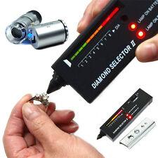 Portable Jeweler Diamond Tool Gemstone Tester Kit Selector 60X Illuminated Loupe