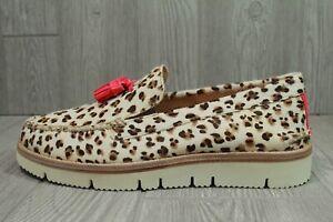 68 Mens Sperry Cloud Authentic Original Tassel Loafers Beige Leopard Print 10
