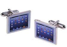 Tablet Computer Novelty Cufflinks  in Cufflink Gift Box   22658