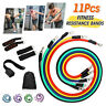 11Pcs Resistance Band Yoga Abs Exercise Fitness Stretch Workout Band Pull String