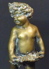 B sculpture ancienne statuette Bacchus enfant bronze 2.4kg29cm statue signée TBE