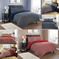 Highland 100% Cotton Check Duvet Cover Set Pillowcase Single Double King Bedding