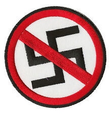 embroidered badge patch No Nazis antifa fusible transfer hotfix patch