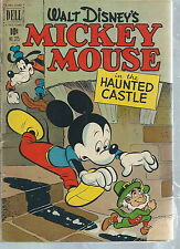 NB-045 - Walt Disney's Mickey Mouse the Haunted Castle # 325, 10-cent comic Vntg