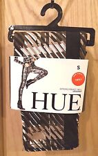 Hue U16887 Espresso Zippered Pocket Stretch Twill Leggings, S - MSRP $48